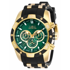 INVICTA 25837 SPEEDWAY GOLD CASE AND GROMED BAND