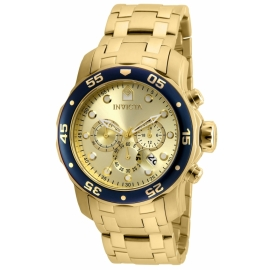 INVICTA 80068 PRO DIVER MOVEMENT QUARTZ WATCH - GOLD CASE