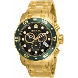 INVICTA 80074 PRO DIVER MOVEMENT QUARTZ WATCH - GOLD CASE