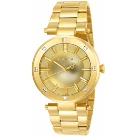 INVICTA ANGEL WOMEN'S QUARTZ 38MM GOLD CASE GOLD DIAL - MODEL 23728