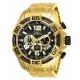 Invicta Pro Diver Mens Quartz 50mm Gold Case Black Dial - Model 25853