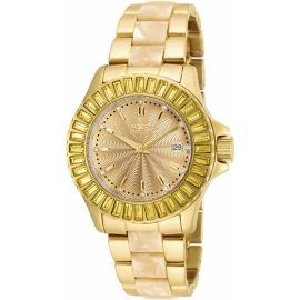 Invicta Angel Swiss Movement Quartz Watch - Gold case with Gold tone Stainless Steel band - Model 17941