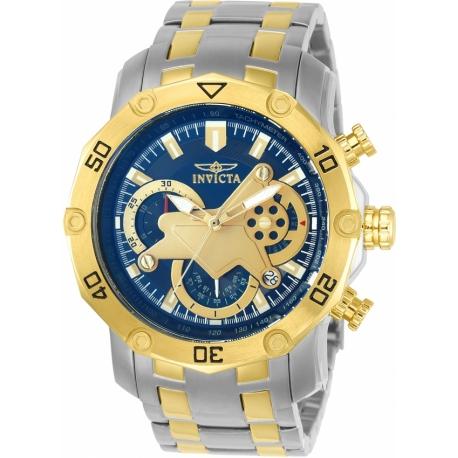 INVICTA PRO DIVER MENS QUARTZ 50MM STAINLESS STEEL CASE BLUE DIAL - MODEL 22762