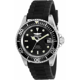 INVICTA PRO DIVER MENS AUTOMATIC 40MM STAINLESS STEEL CASE BLACK DIAL - MODEL 23678