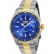 INVICTA PRO DIVER SWISS MADE MENS QUARTZ 44MM STAINLESS STEEL, GOLD CASE BLUE DIAL - MODEL 25815