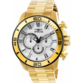 INVICTA 22589 PRO DIVER MENS QUARTZ 48.5MM GOLD CASE