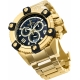 INVICTA RESERVE QUARTZ WATCH  MODEL 0340- GOLD CASE WITH GOLD TONE STAINLESS STEEL BAND -