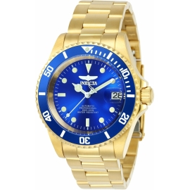INVICTA 24763 Pro Diver Mens Automatic 40mm Gold Case Blue Dial