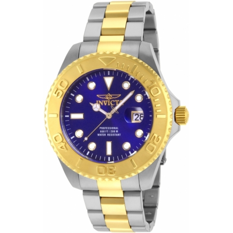 INVICTA PRO DIVER SWISS MOVEMENT QUARTZ WATCH -GOLD TONE STAINLESS STEEL - MODEL 15181