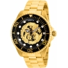 INVICTA PRO DIVER MENS AUTOMATIC 47MM GOLD CASE BLACK DIAL - MODEL 26490