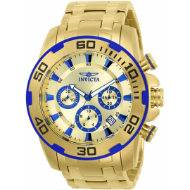 INVICTA 22320 PRO DIVER MENS QUARTZ 50MM GOLD CASE