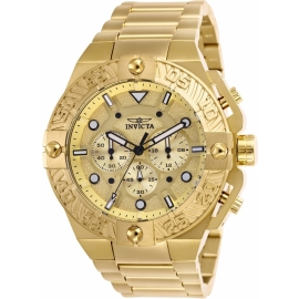 INVICTA 25830 PRO DIVER MENS QUARTZ 50MM GOLD CASE GOLD DIAL