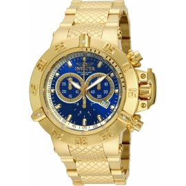 INVICTA SUBAQUA NOMA III MENS QUARTZ 50MM GOLD CASE STAINLESS STEEL DIAL MODEL - 14501