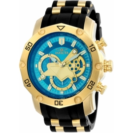 INVICTA 23426 PRO DIVER MENS QUARTZ 50MM GOLD CASE BLUE DIAL