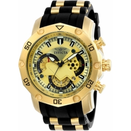 INVICTA 23427 PRO DIVER MENS QUARTZ 50MM GOLD CASE GOLD DIAL