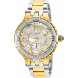 INVICTA SUBAQUA WOMENS QUARTZ 38MM GOLD CASE WHITE DIAL - MODEL 26140