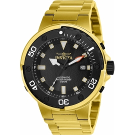 INVICTA 24467 PRO DIVER MENS AUTOMATIC 49MM GOLD CASE BLACK DIAL