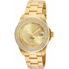 INVICTA 24614 ANGEL WOMENS QUARTZ 40MM GOLD CASE GOLD DIAL