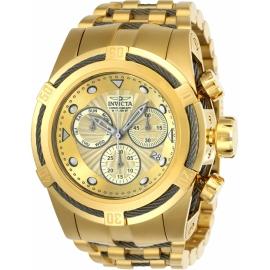 INVICTA 23913 BOLT MENS QUARTZ 53MM GOLD, TITANIUM CASE GOLD DIAL