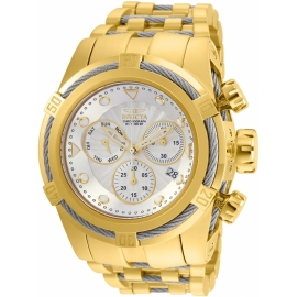 INVICTA BOLT ZEUS MENS QUARTZ 53MM GOLD, STAINLESS STEEL CASE SILVER DIAL - MODEL 23914