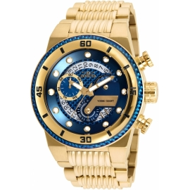 INVICTA S1 RALLY MENS QUARTZ 51MM GOLD CASE BLUE DIAL - MODEL 25281