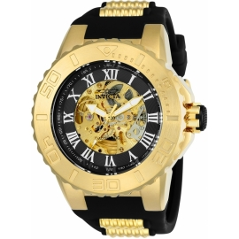 INVICTA 24742 PRO DIVER MENS AUTOMATIC 51MM GOLD CASE BLACK DIAL