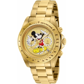 INVICTA  25196 DISNEY LIMITED EDITION MICKEY MOUSE MENS QUARTZ 39.5MM GOLD CASE