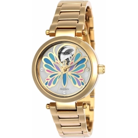 INVICTA 24450 ANGEL WOMENS AUTOMATIC 35MM GOLD CASE WHITE DIAL