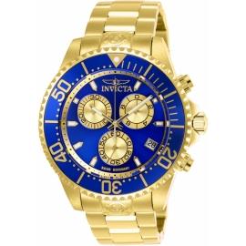 Invicta 26849 Men's Pro Diver Quartz Chronograph Blue, Gold Dial Watch
