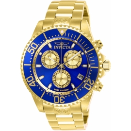 Invicta 26849 Men's Pro Diver Quartz Chronograph Blue, Gold Dial Watch