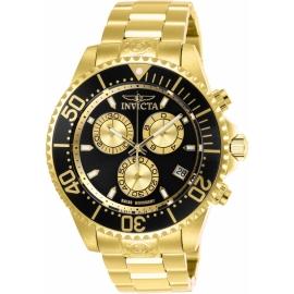 Invicta 26848 Men's  Pro Diver Quartz Chronograph Black, Gold Dial Watch