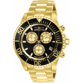 Invicta 26848 Men's  Pro Diver Quartz Chronograph Black, Gold Dial Watch