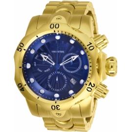 INVICTA 25905 VENOM MENS QUARTZ 53.7MM GOLD CASE BLUE DIAL