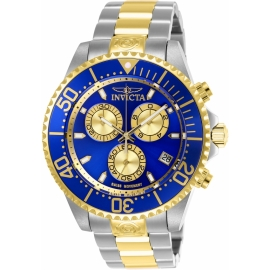 Invicta 26851 Pro Diver Quartz Chronograph Blue, Gold Dial Watch