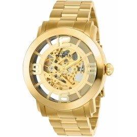 Invicta 22582 Vintage Mens Automatic 45mm Gold Case Gold Dial