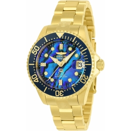 Invicta  23987 Pro Diver Women's Automatic 38mm Gold Case Navy Blue Dial