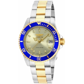 Invicta ILE8928OBA Pro Diver Automatic Watch - Gold, Stainless Steel case with Steel