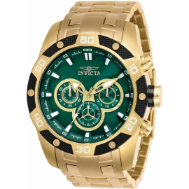Invicta 25842 Speedway Mens Quartz 48mm Gold Case Green Dial