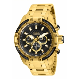 INVICTA  25944 SPEEDWAY SCUBA MENS QUARTZ 50MM GOLD CASE BLACK DIAL