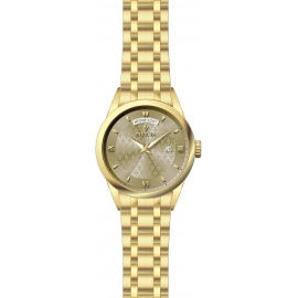 INVICTA MODEL 24306 VINTAGE MENS QUARTZ 40MM GOLD CASE BEIGE DIAL -