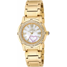 Angel 18605 Mother of Pearl Dial 18kt Gold-plated Ladies Watch