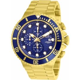 INVICTA MODEL 25297 PRO DIVER MENS QUARTZ 50MM GOLD, BLUE CASE BLUE DIAL -