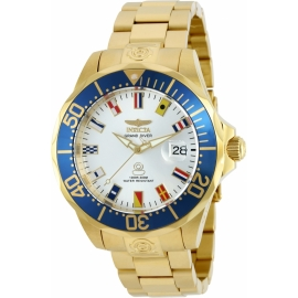 INVICTA MODEL 21325 PRO DIVER AUTOMATIC WATCH - GOLD, STAINLESS STEEL CASE WITH STEEL, GOLD TONE STAINLESS STEEL BAND -