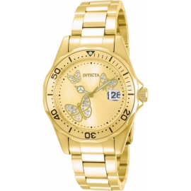 INVICTA  MODEL 12505 PRO DIVER QUARTZ WATCH - GOLD, STAINLESS STEEL CASE WITH GOLD TONE STAINLESS STEEL BAND -
