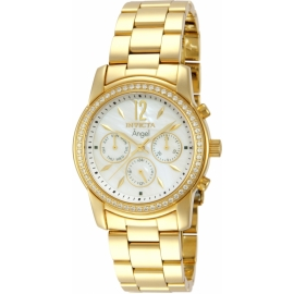 INVICTA 11771 ANGEL SWISS MOVEMENT QUARTZ WATCH - GOLD CASE WITH GOLD TONE STAINLESS STEEL BAND -