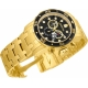 INVICTA MODEL 0072 PRO DIVER SWISS MOVEMENT QUARTZ WATCH - GOLD CASE WITH GOLD TONE STAINLESS STEEL BAND -