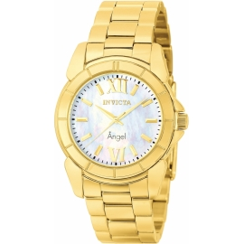 INVICTA MODEL 0460 ANGEL SWISS MOVEMENT QUARTZ WATCH - GOLD CASE WITH GOLD TONE STAINLESS STEEL BAND -