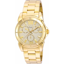 INVICTA ANGEL WOMEN'S QUARTZ GOLD CASE, GOLD DIAL - 21700