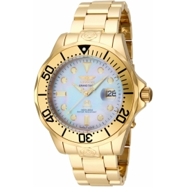 INVICTA MODEL 16033 PRO DIVER AUTOMATIC WATCH - GOLD CASE WITH GOLD TONE STAINLESS STEEL BAND -