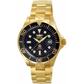 INVICTA MODEL 10642 PRO DIVER AUTOMATIC WATCH - GOLD CASE WITH GOLD TONE STAINLESS STEEL BAND -